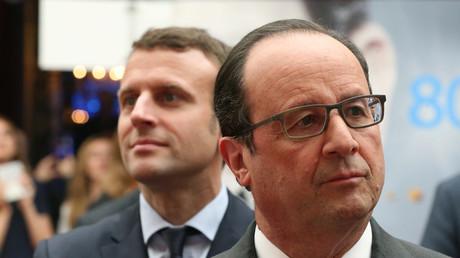 François Hollande et Emmanuel Macron à l'Elysée