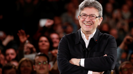Jean-Luc Mélenchon lors de son grand meeting à Bordeaux