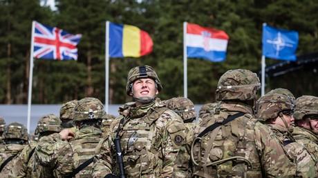 Les troupes de l'OTAN accueillies à Orzysz, en Pologne