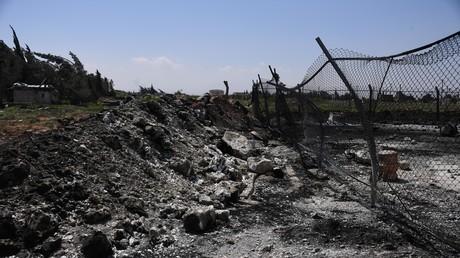 La base syrienne d'al-Chaayrate après le frappe américaine