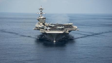 Le porte-avion de l'US Navy «USS Carl Vinson» est en route pour la péninsule coréenne
