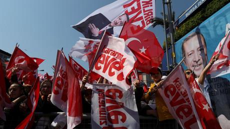 Des partisans du président turc