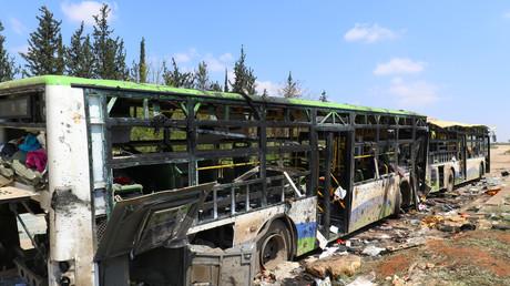 L'attaque du convoi de bus à Rachidine, le 15 avril