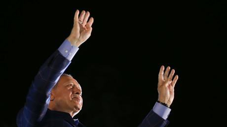 Le président turc au soir de la victoire du