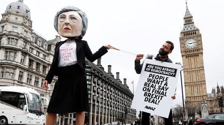Les manifestations anti-Brexit à Londres, mars 2017.