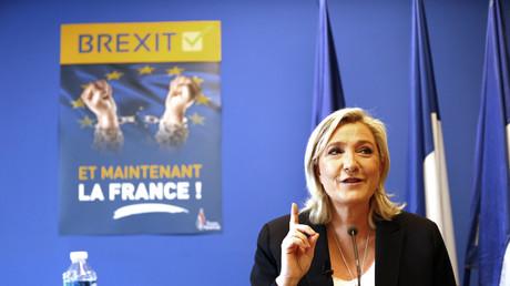 Marine Le Pen en juin 2016, après la victoire du camp favorable au Brexit au Royaume-Uni