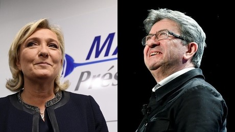 Marine Le Pen compare Mélenchon à Tsipras en affirmant qu'il ne veut pas sortir de l'UE ou de l'euro