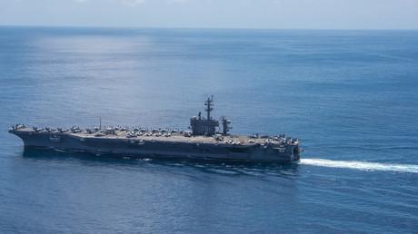 Le porte-avions américain arrivera dans quelques jours en mer du Japon