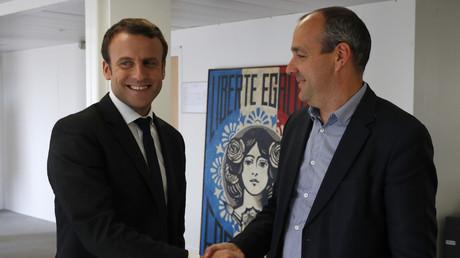 Emmanuel Macron avec le chef de CFDT Laurent Berger