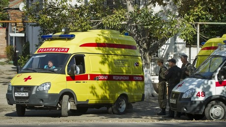 Photo d'archive, des ambulances russes