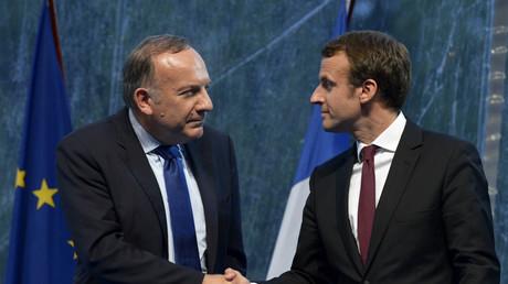Pierre Gattaz et Emmanuel Macron en 2015