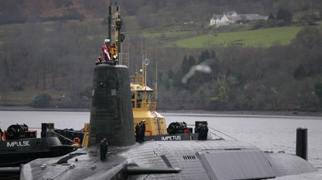 Le sous-marin HMS Vengeance, équipé de missiles balistiques nucléaires Trident