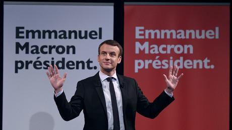 Emmanuel Macron lors de sa campagne politique