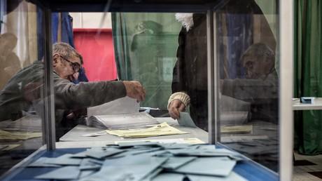 Urne électorale le 23 avril, lors du premier tour de la présidentielle