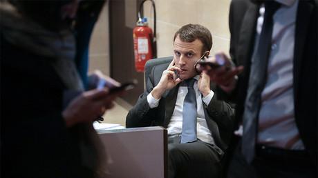 Emmanuel Macron, ici en mars 2015, a-t-il été visé par des hackers russes ? photo ©JACQUES DEMARTHON / AFP