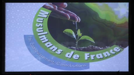 Logo de l'UOIF le 15 avril 2017 au Bourget