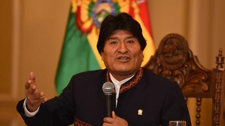 Evo Morales, président de l'Etat plurinational de la Bolivie