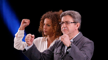 Jean-Luc Mélenchon et Charlotte Girard