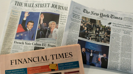 Les unes de plusieurs journaux américains au lendemain du premier tour de l'élection présidentielle française.