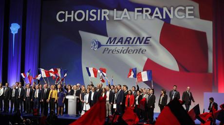 Marine Le Pen lors du premier tour de l'élection présidentielle