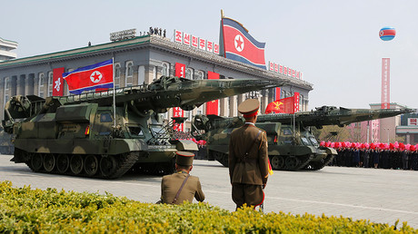 Une parade militaire en Corée du Nord.