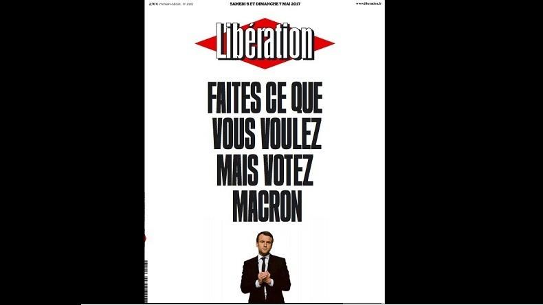 En pleine période de réserve, Libération appelle à voter Macron en une