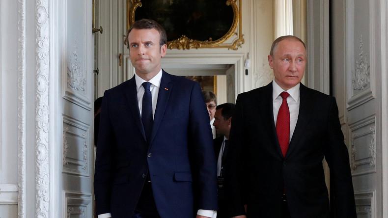 Vladimir Poutine et «le double aspect d'Emmanuel Macron»