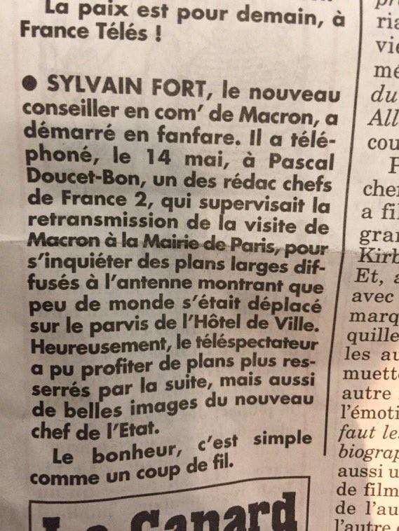 Foule éparse à l'investiture de Macron : son équipe aurait demandé à France 2 des plans plus serrés