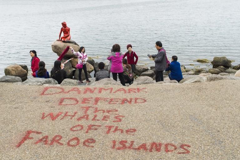 La Petite Sirène de Copenhague vandalisée au nom de la défense des cétacés (PHOTOS)