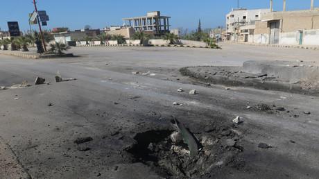 Le lieu de l'attaque chimique présumée à Khan Cheikhoun