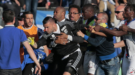 Des échauffourées pendant le match Bastia-OL, le 16 avril