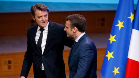 Emmanuel Macron et François Baroin, alors président de l'association des maires de France