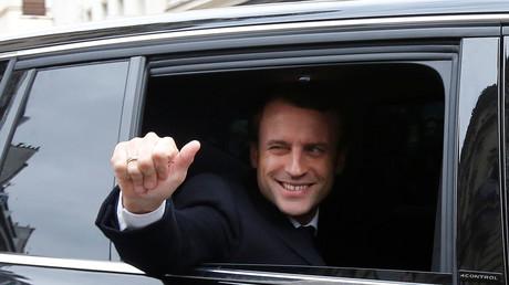 Emmanuel Macron le 7 mai dans l'après-midi