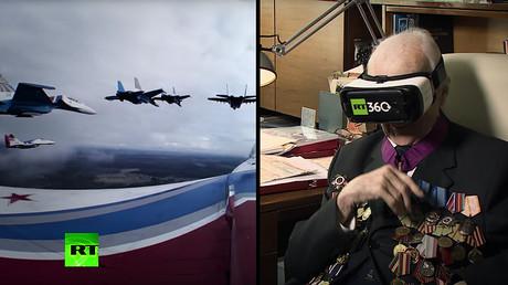 Un pilote de la Seconde Guerre mondiale revit les joies du vol en regardant une vidéo à 360° de RT