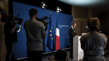 Emmanuel Macron lors de son allocution du 7 mai