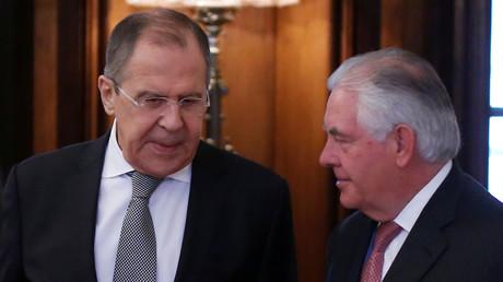 Photo d'acrhive, Sergueï Lavrov  et Rex Tillerson