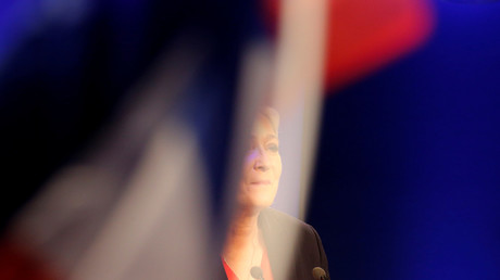 Marine Le Pen lors de son allocution le 7 mai