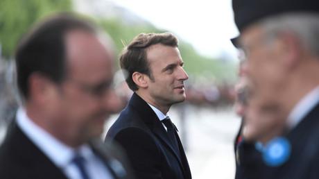 Emmanuel Macron lors de la cérémonie de commémoration du 8 mai à Paris.