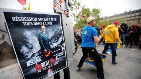 Manifestation au lendemain de l'élection d'Emmanuel Macron à la présidence de la République