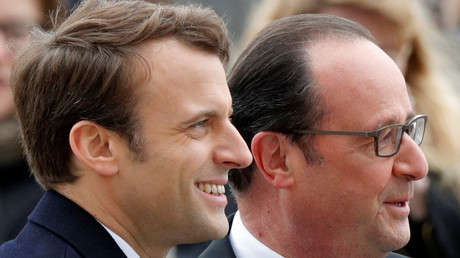 François Hollande préside, avec Emmanuel Macron, la cérémonie commémorant l'abolition de l'esclavage