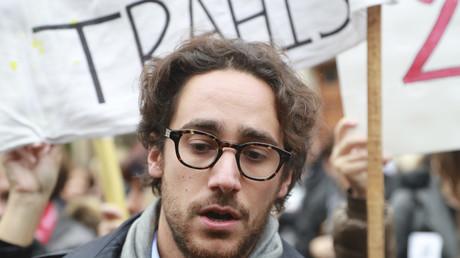 Thomas Hollande lors d'une manifestation en novembre 2016
