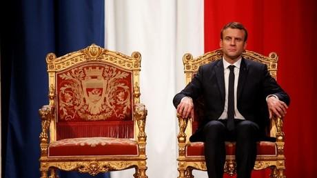 Emmanuel Macron à l'hôtel de ville de Paris