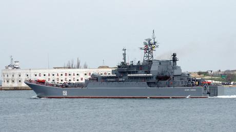 Le navire de guerre russe Tsezar Kounikov