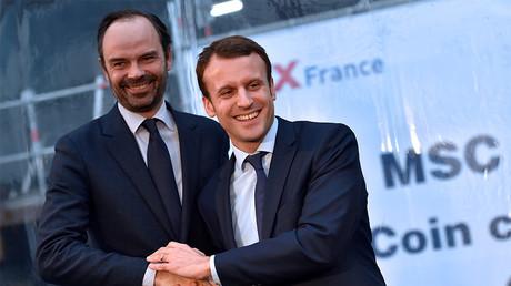 Edouard Philippe et Emmanuel Macron en janvier 2017, photo ©LOIC VENANCE / AFP