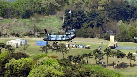 Le THAAD, un système de défense antimissile américain déployé en Corée du Sud.