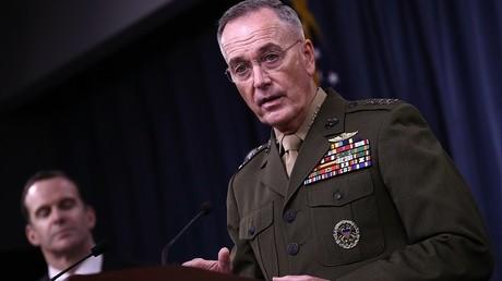 Le chef de l'état-major des Etats-Unis, Joseph Dunford, au Pentagone le 19 mai
