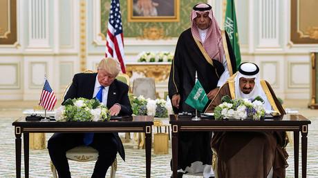 Le président américain Donald Trump et le roi d'Arabie saoudite Salmane ben Abdelaziz Al Saoud