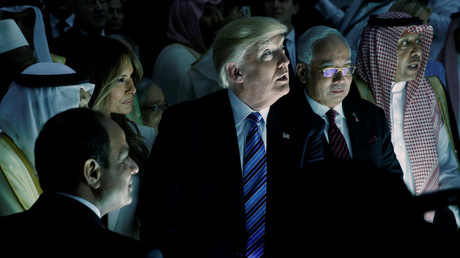 Donald Trump lors du sommet de Riyad le 21 mai.