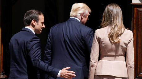 Emmanuel Macron, Donald Trump et Melania Trump