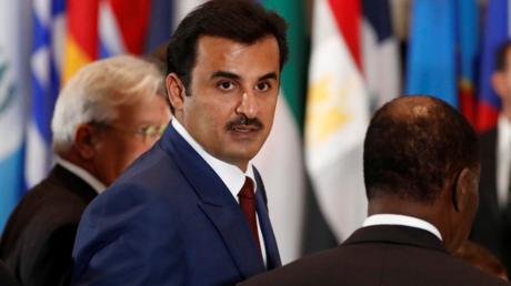 L'émir du Qatar, cheikh Tamim ben Hamad Al-Thani lors de l'Assemblée générale de l'ONU au siège des Nations Unies à New York, le 20 septembre 2016